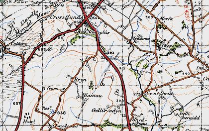 Old map of Blaenau in 1947
