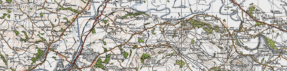 Old map of Windle Park in 1947