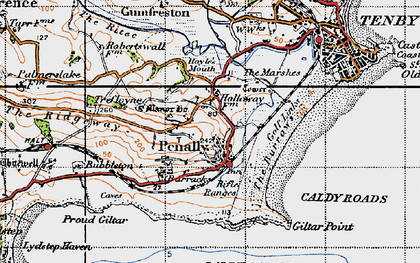 Old map of Penally in 1946