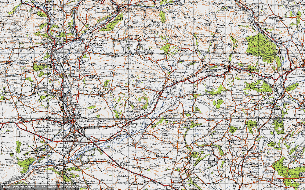Old Map of Pencoed, 1947 in 1947