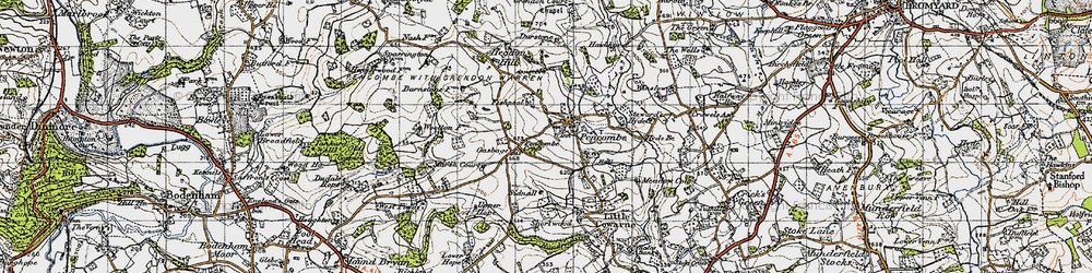 Old map of Winslow in 1947