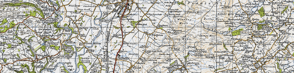 Old map of Wymondhouses in 1947