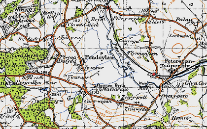 Old map of Allt Laes in 1947