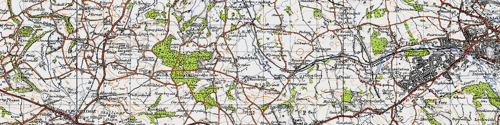 Old map of Allt Isaf in 1947