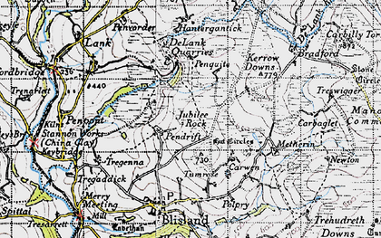 Old map of Pendrift in 1946