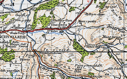 Old map of Afon Crewi in 1947