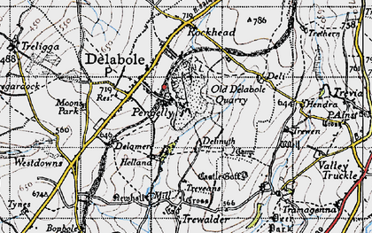 Old map of Pengelly in 1946
