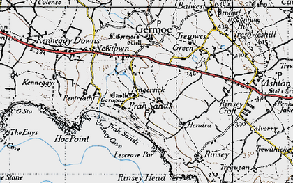 Old map of Pengersick in 1946