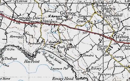 Old map of Pengersick in 1946