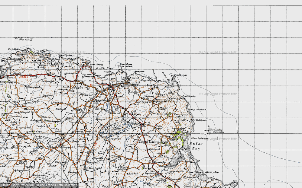 Old Map of Pengorffwysfa, 1947 in 1947