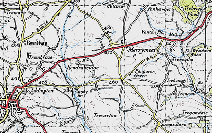 Old map of Pengover Green in 1946