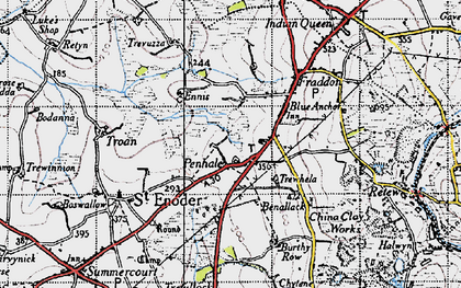 Old map of Penhale in 1946