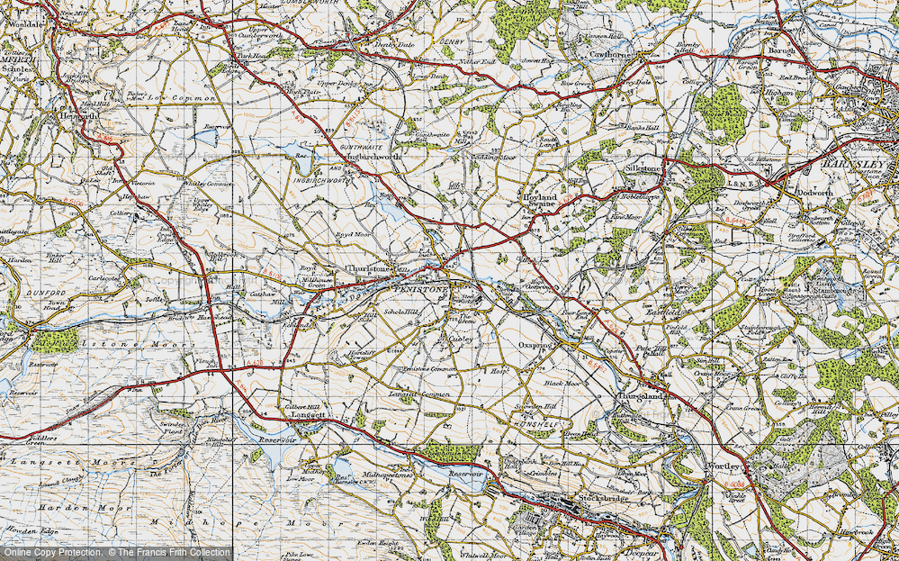 Old Map of Penistone, 1947 in 1947