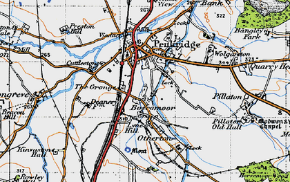 Old map of Penkridge in 1946