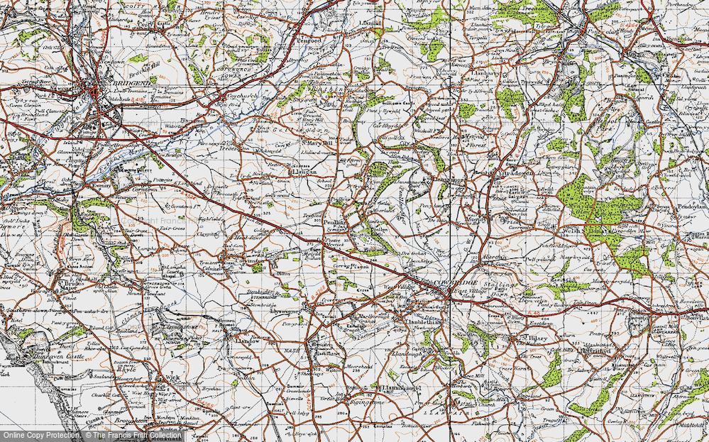 Old Map of Penllyn, 1947 in 1947