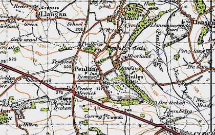 Old map of Penllyn in 1947