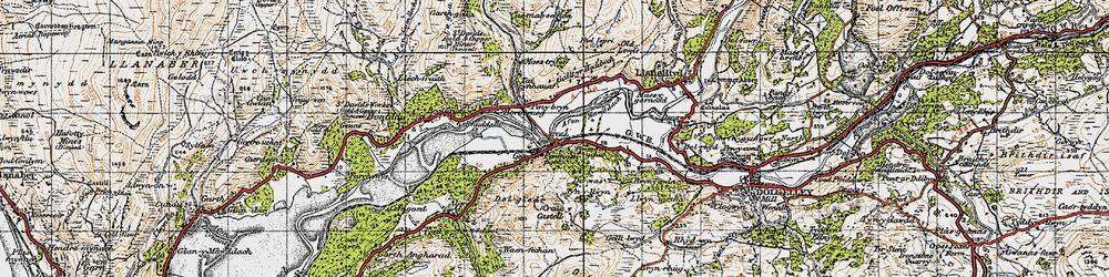 Old map of Penmaenpool in 1947