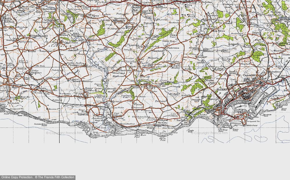 Old Map of Penmark, 1947 in 1947