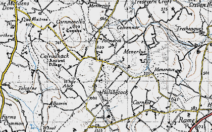 Old map of Penmarth in 1946