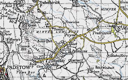 Old map of Penmayne in 1946