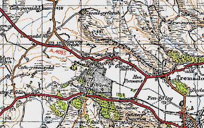 Old map of Allt-wen in 1947