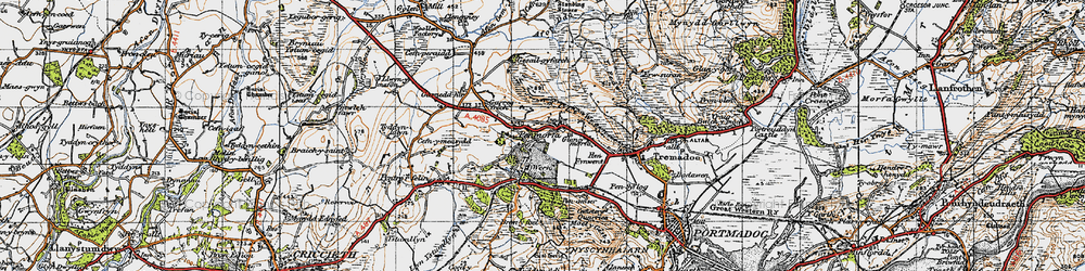 Old map of Y Fedw in 1947
