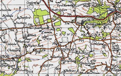 Old map of Wringsland in 1946