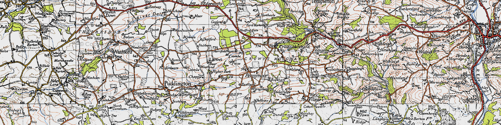 Old map of Yeadbury in 1946
