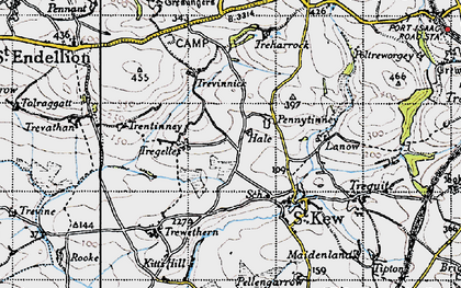 Old map of Pennytinney in 1946