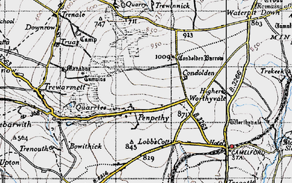 Old map of Penpethy in 1946