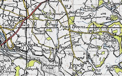 Old map of Penpol in 1946