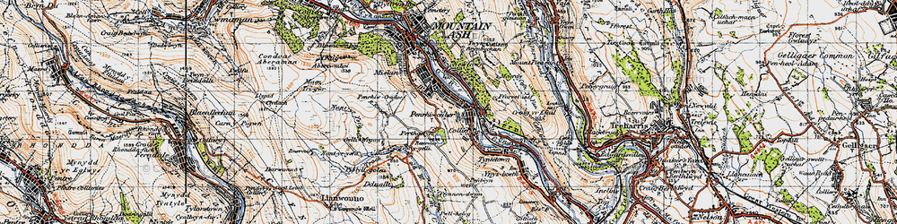 Old map of Penrhiwceiber in 1947