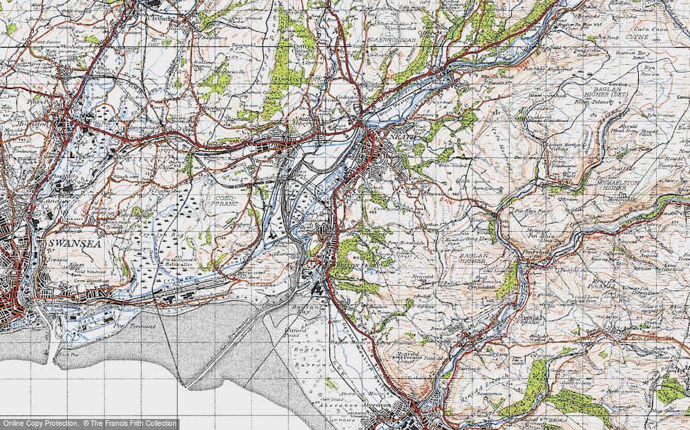 Old Map of Penrhiwtyn, 1947 in 1947