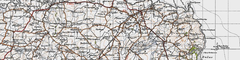 Old map of Ysgellog in 1947