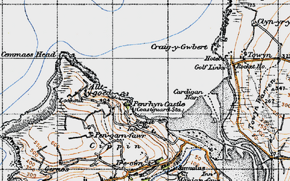 Old map of Allt-y-goed in 1947