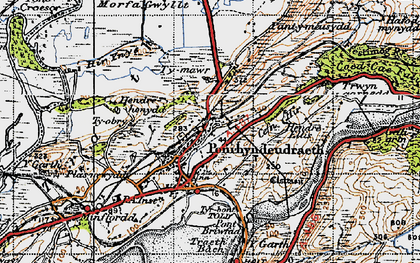 Old map of Penrhyndeudraeth in 1947