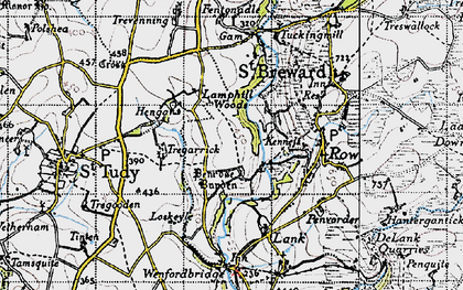 Old map of Penrose in 1946