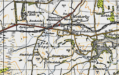 Old map of Penruddock in 1947