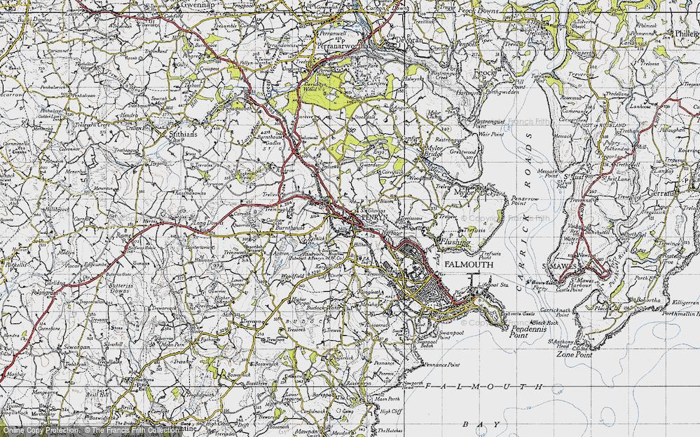 Old Map of Penryn, 1946 in 1946