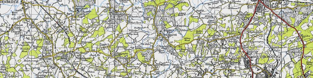 Old map of Penshurst in 1946