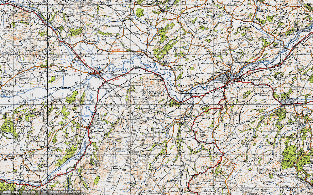 Old Map of Historic Map covering Allt y Gaer in 1947