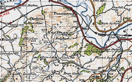 Old map of Allt y Gaer in 1947
