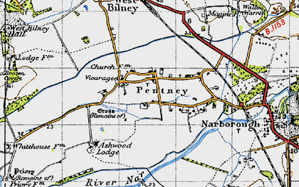Old map of Ashwood Lodge in 1946