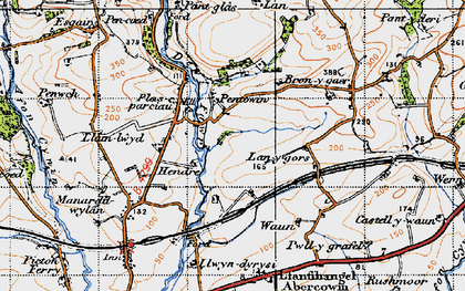 Old map of Lanygors in 1946