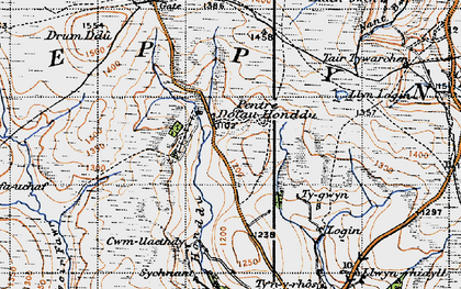 Old map of Ysgir Fawr in 1947