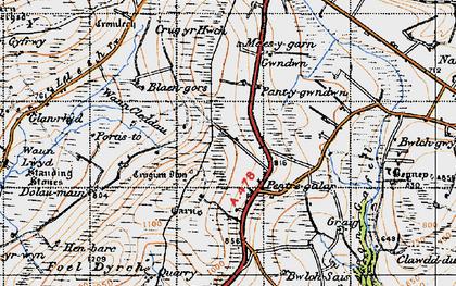 Old map of Wauncleddau in 1946