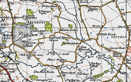 Old map of Wrexham Industrial Estate in 1947
