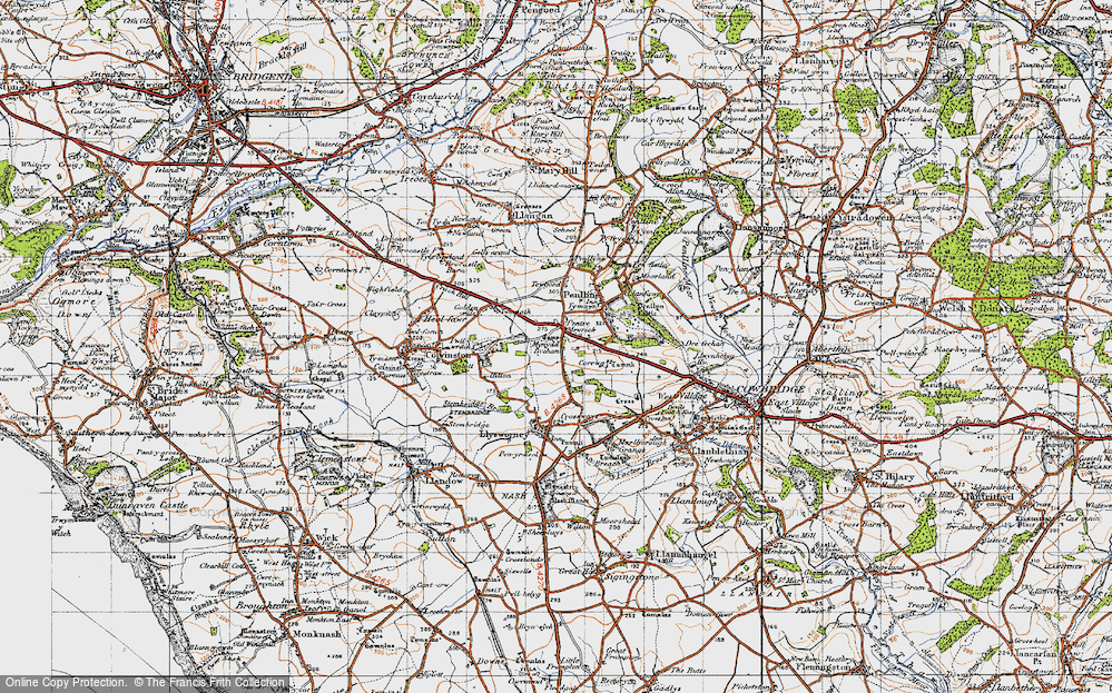 Old Map of Pentre Meyrick, 1947 in 1947