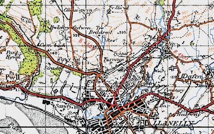 Old map of Pentre-Poeth in 1946