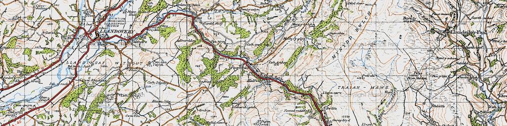 Old map of Allt y Ferdre in 1947